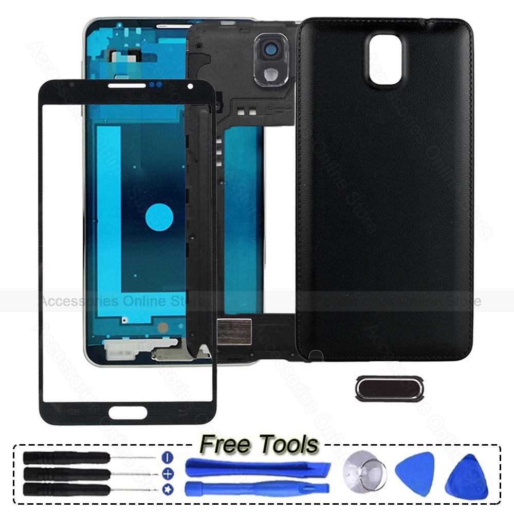 Original Phone Full Housing Bezel Cover Case shell For Samsung Galaxy Note 3 N900 N9005 N900A N900T N900P N900V Repair parts(China (Mainland))