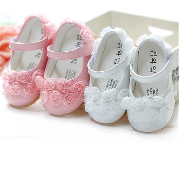 L-34 Hot selling new 2015 Baby Girls Shoes Flowers Baby First Walkers Soft Sole Shoes Soft lace sweet girls shoes(China (Mainland))