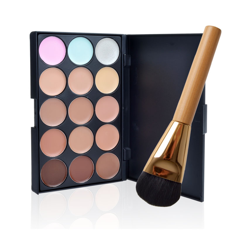 New Facial Care Professional 15 Color Concealer Make Up Cream Camouflage Concealer Palette Makeup Palette Free Shipping(China (Mainland))