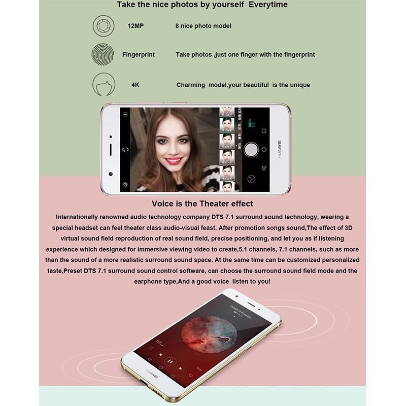 Original Huawei Nova Cell Phone RAM 4GB ROM 64GB MSM8953 Octa Core 12.0MP 5.0″ FHD 1920X1080P Dual SIM Fingerprint Smartphone