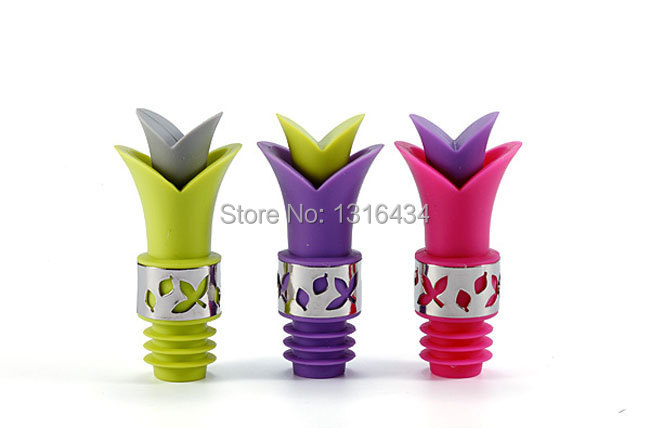 NEW SHOP OPENED-Hot selling Lovely & Mini Wine stopper / Wine pourer--buy eight, get one free(China (Mainland))