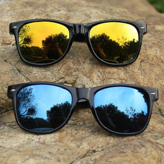 2015 Cool Sunglasses for Men Women Colorful Bright Classical Aviator Summer Oculos Mirror UV Protection Glasses