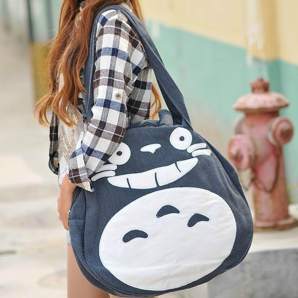 Hot sale 2014 most popular Totoro bags shoulder canvas bag Pretty girl leisure package neighbor totoro Free Shipping(China (Mainland))