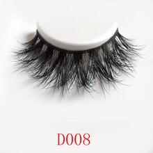 Wholesale Natural 3D 100% Real Mink False Eye Lashes/ Mink Individual Fake Eyelashes Extensions For Makeup Free Shipping 2016 D8(China (Mainland))