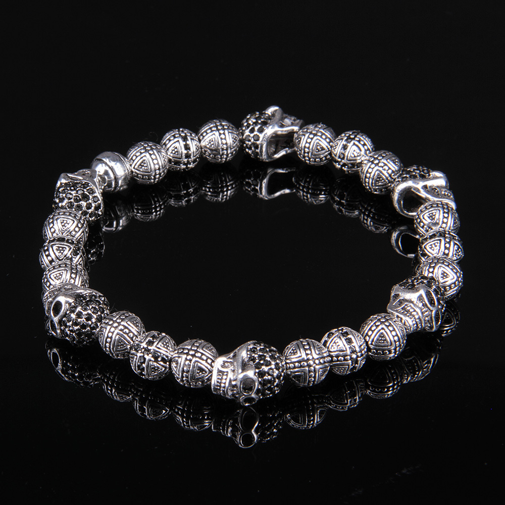 Skulls and Cross Karma Beads,bracelet from the Rebel At Heart Collection,Thomas Style Bracelet Jewerly For Men<br><br>Aliexpress