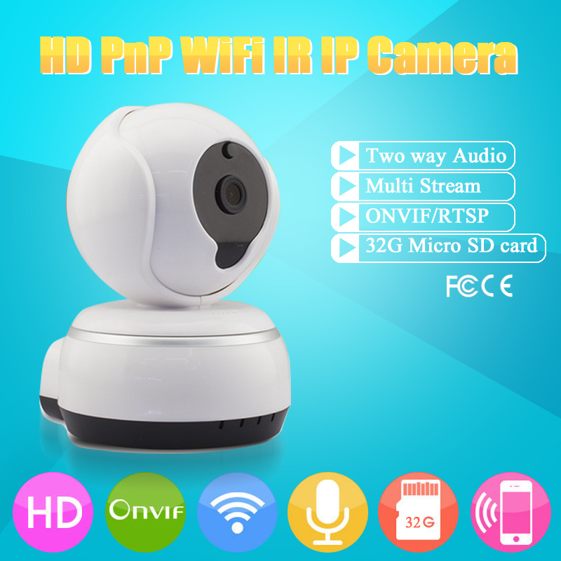 HD 720P Wireless IP Camera Wifi Night Vision Camera IP Network Security Camera CCTV PTZ Rotatable IP Camera Onvif PC Cloud App(China (Mainland))