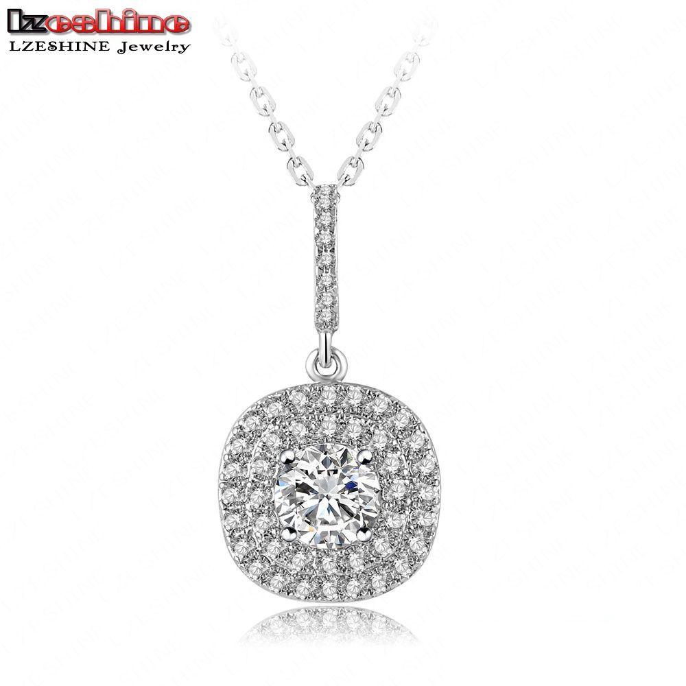 lzeshine new design pendant necklace platinum plt