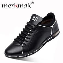 Merkmak ビッグサイズ 38-48 男性カジュアルシューズのファッション革靴夏のフラットシューズドロップシッピング(China)