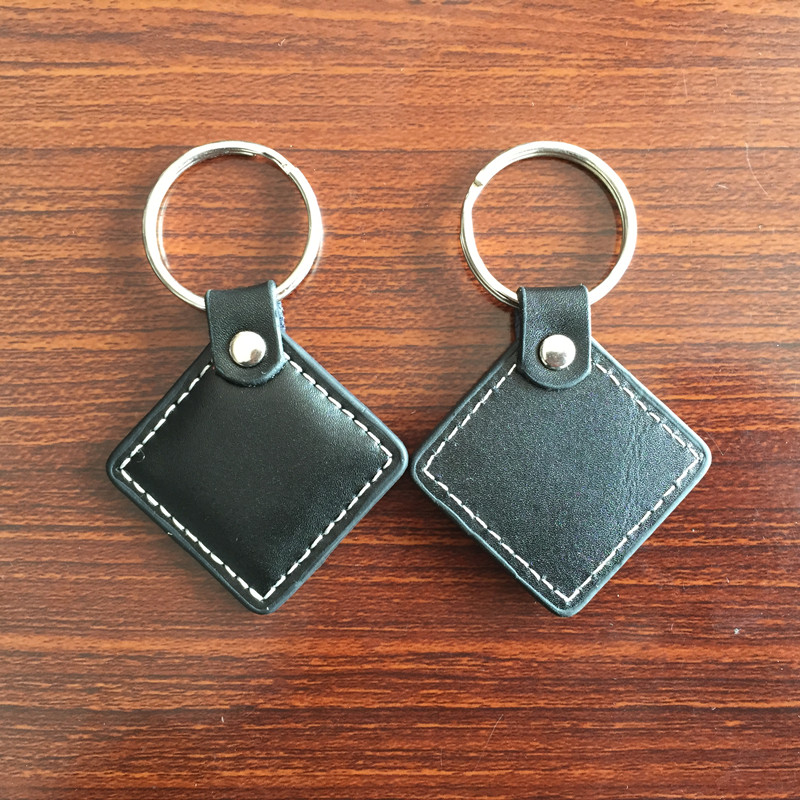 1PC RFID EM4100 Leather keychain tag 125KHZ Low frequency(China (Mainland))