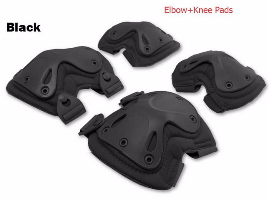 anti-impact four hevey protection adult outdoor skating X-sports climbing tactical military security protective elbow knee pads(China (Mainland))