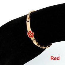 Red Baby Bracelets Gold Kids Jewelry Baby Armband Teen Gift Braclet Brazalete Bebe Bijoux Bransoletki Dzieci Bebek Bilezik B0929(China)