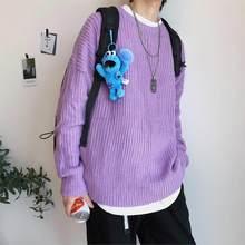 Privathinker 2020 가을 겨울 스웨터 남성 풀오버 9 색 캐주얼 남성 니트 한국 단색 탑스 Streetwear Mens 스웨터(China)