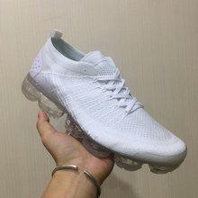 Original clásico Off-W Fly 1,0 2,0 3,0 zapatos emblemáticos de punto hombres vapores mujeres Triple blanco negro gris tejer zapatillas de deporte(China)