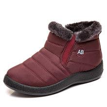 Kadın botları artı boyutu 43 su geçirmez kar botları kış üzerinde kayma ayakkabı kadın sıcak kapitone çizmeler ayak bileği Botas Mujer kış ayakkabı(China)
