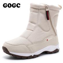 GOGC frauen stiefel frauen Winter Stiefel Schuhe frau sonw stiefel frauen Stiefel Winter Stiefel für Frauen Winter Schuhe stiefeletten G9906(China)