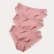 ผ้าฝ้าย 3 ชิ้น/ล็อตของผู้หญิงกางเกงชุดชั้นในผิวกางเกงสำหรับสตรี(China)