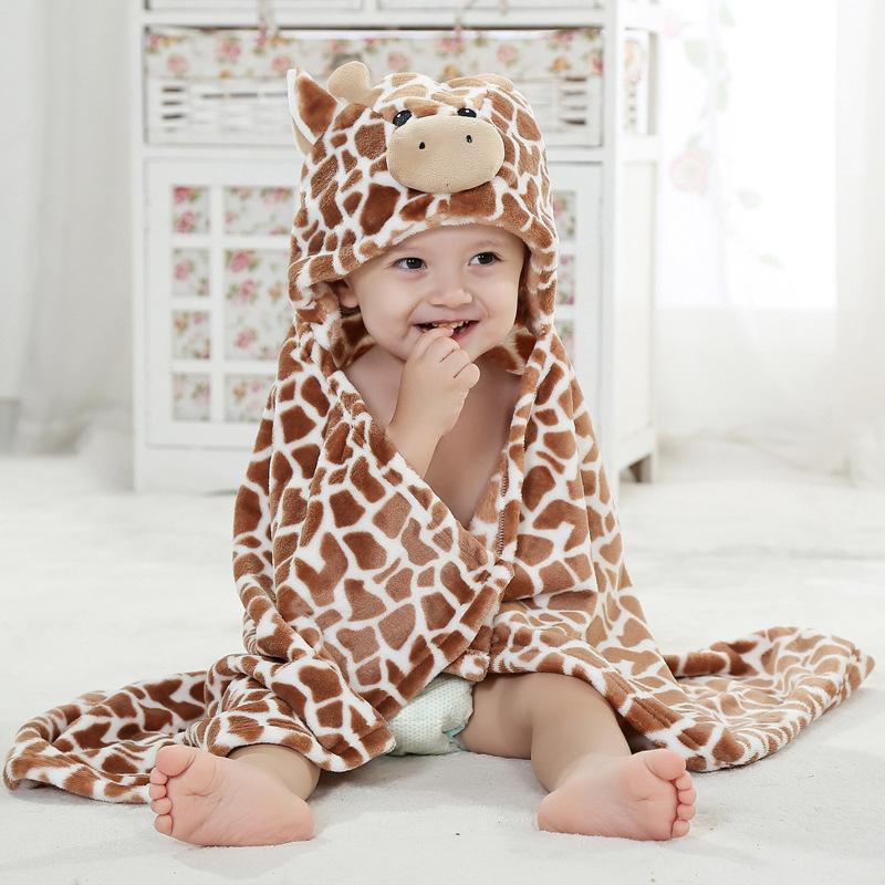 Hooded Towel Super Soft Giraffe Bathrobe