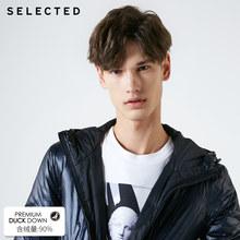 SELECTED 겨울 짧은 파카 다운 재킷 새로운 남성 오리 반짝 이는 후드 캐주얼 코트 짧은 남성 의류 | 419112516(China)