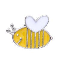 1 Pc Vintage Ape in Metallo Spille Insetto Spilla Spille Le Donne E Gli Uomini Dei Monili Carino Piccolo Bumblebee Distintivi E Simboli Panno di Modo Decori accessori(China)
