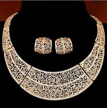 ZOSHI תכשיטי סטי נשים הודי אפריקאי סט מדהים מחיר חתונה תכשיטים עבור כלות דובאי זהב תכשיטי סטים(China)