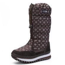 Frauen schnee stiefel 2019 winter stiefel plattform dicken plüsch warm non-slip wasserdichte winter schuhe größe 35-42(China)