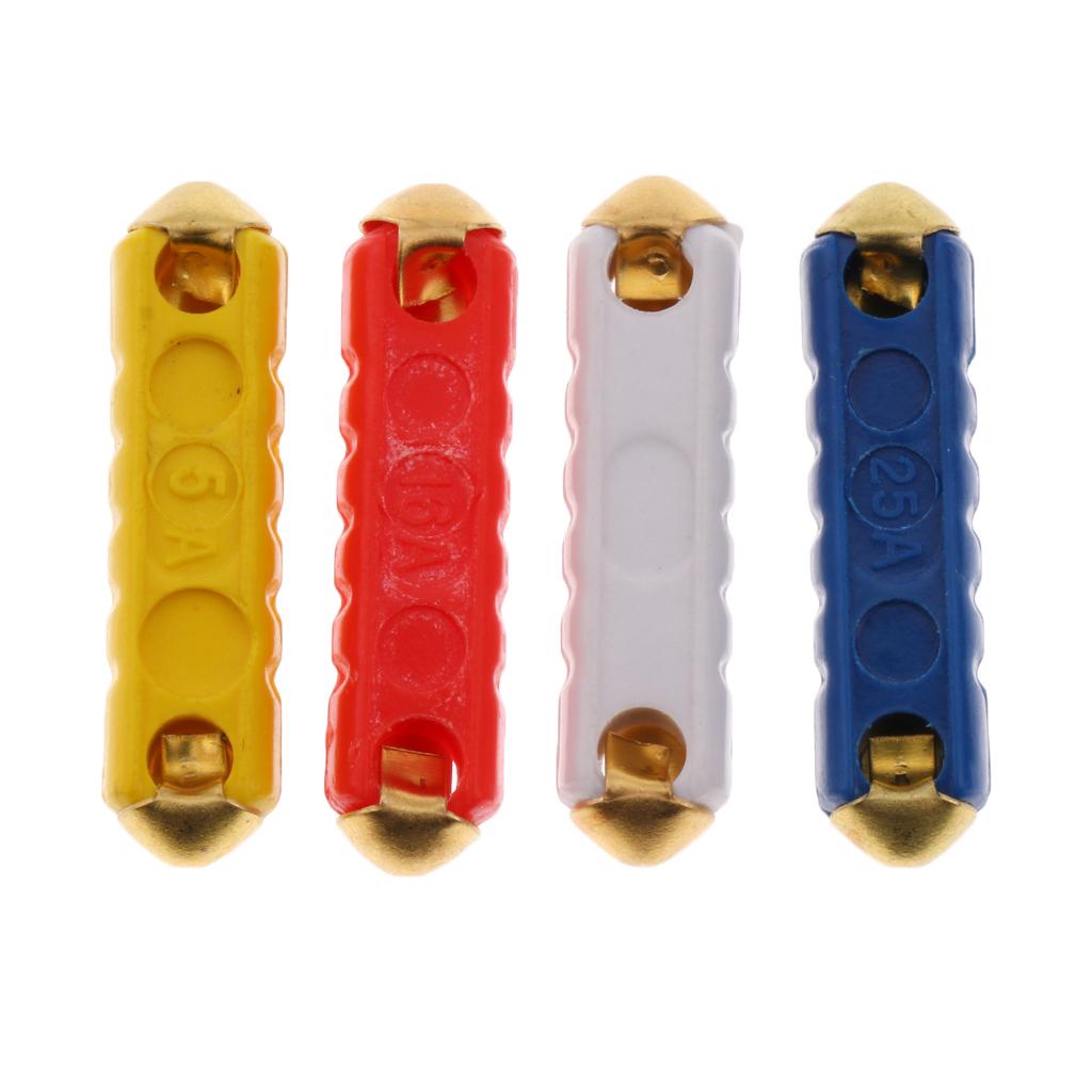 40 Pieces Automotive Car GBC Copper  Fuse Kit 25A 8A 16A 20A