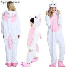 Unicórnio Kigurumi Pijamas Para Meninos Das Meninas Das Mulheres Conjuntos de Pijama Homens Adultos Onesie Animal Panda Ponto Pijamas Cosplay Pijamas Crianças(China)