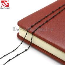 """BOFEE stal nierdzewna 316L stalowy łańcuch naszyjnik dla pływających wisiorek medalion biżuteria sztuczna hurtownie 18 """"+ 2"""" Inche (50 cm) kobiety mężczyźni(China)"""