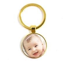 Kustom Pribadi Gantungan Kunci Foto Ibu Ayah Bayi Anak Kakek Orang Tua Yang Dirancang Khusus Foto Hadiah untuk Keluarga Hadiah Ulang Tahun(China)