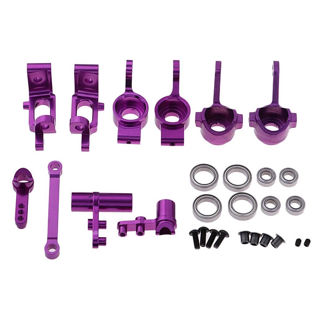 Set Aluminum Alloy Steering Hub Components For HSP 94122 94123 94111 94188