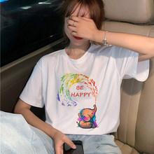 Nieuwe Lgbt Homo Liefde Harajuku T-shirt Vrouwen Lesbische Ullzang 90 S T-shirt Grafische Regenboog Liefde Is Liefde T-shirt cartoon Top Tees Vrouwelijke(China)