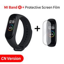 במלאי מקורי שיאו mi mi Band 4 חכם mi band 3 צבע מסך צמיד קצב לב כושר Tracker Bluetooth5.0 עמיד למים Band4(China)