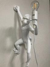 Полимерная черная, белая, Золотая лампа в форме обезьяны, подвесной светильник для гостиной, лампы для художественного салона, кабинета, све...(China)