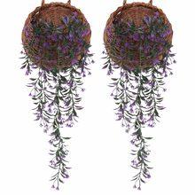 # H40 2 шт цветок искусственный венок из виноградных листьев растения листва открытый дом шлейф цветок поддельный цветок Подвесной Настенный ...(Китай)