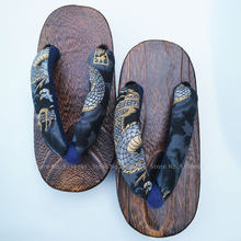 Children Japanese Traditional Geta Clogs Kids Kimono Anime Cosplay Rount Toe Wooden Shoes Beach Sandal Yukata Outdoor Flip Flops(China)