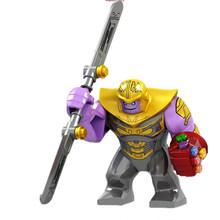 Legoing Thanos Maravilha Homem De Ferro Avengers Hulk Endgame Infinito Guerra 4 Maravilhas Figuras de Super Heróis Blocos Brinquedos Presentes Legoingls Conjunto(China)