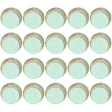 100PCS สีการพิมพ์กรณี Muffin ถ้วยกระดาษ(China)