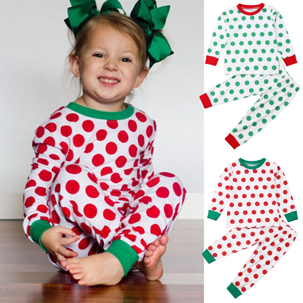 Baby Kids Xmas Outfits Tops Shirts Leggings Hat Clothes For Toddlers Girls Boys