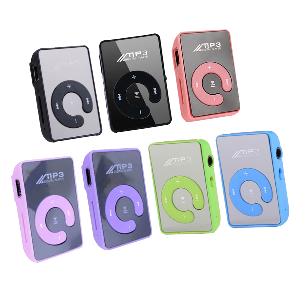 Mini Mirror Clip MP3 Player Portable Fashion Sport USB Digital Music Player for MicroSD TF Card Media MP3 Player Rechargeable