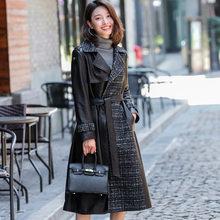 Vrouwen Echte Schapenvacht Jas Echt Lederen Jas Slanke Lente Herfst Koreaanse Mode Leren Jas Campera Mujer F18J16067 YY389(China)