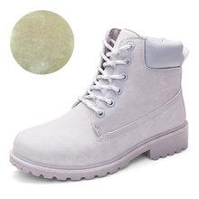 Moda Kış yarım çizmeler Kadın Kışlık Botlar Martin Çizmeler Kadın Kış Ayakkabı Artı Boyutu Kadın Botları dantel-up Rahat patik(China)