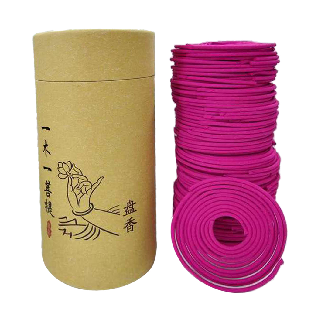 120pcs/Box Natural Spiral Incense Coils Indoor Aromatherapy for Living Room Tea House Yoga Room