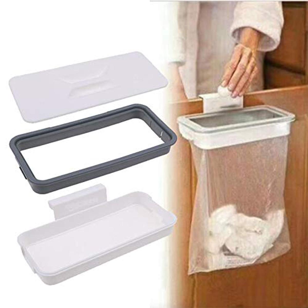 Kitchen Waste Bag Holder Hanging Rubbish Trash Carrier Bin Bag Cupboard Hanger