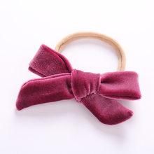 Детская повязка для волос цветок девочки розовые Ленточные резинки для волос для маленьких девочек детские повязки на голову тюрбан новоро...(China)