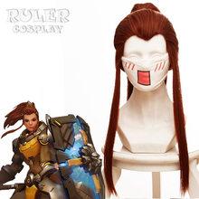Sıcak oyun OW D. r e r e r e r e r e r e r e r e r e r e ve merhamet Cosplay peruk renk kahverengi bej isıya dayanıklı sentetik saç peruk kadın Cosplay Ashe peruk(China)