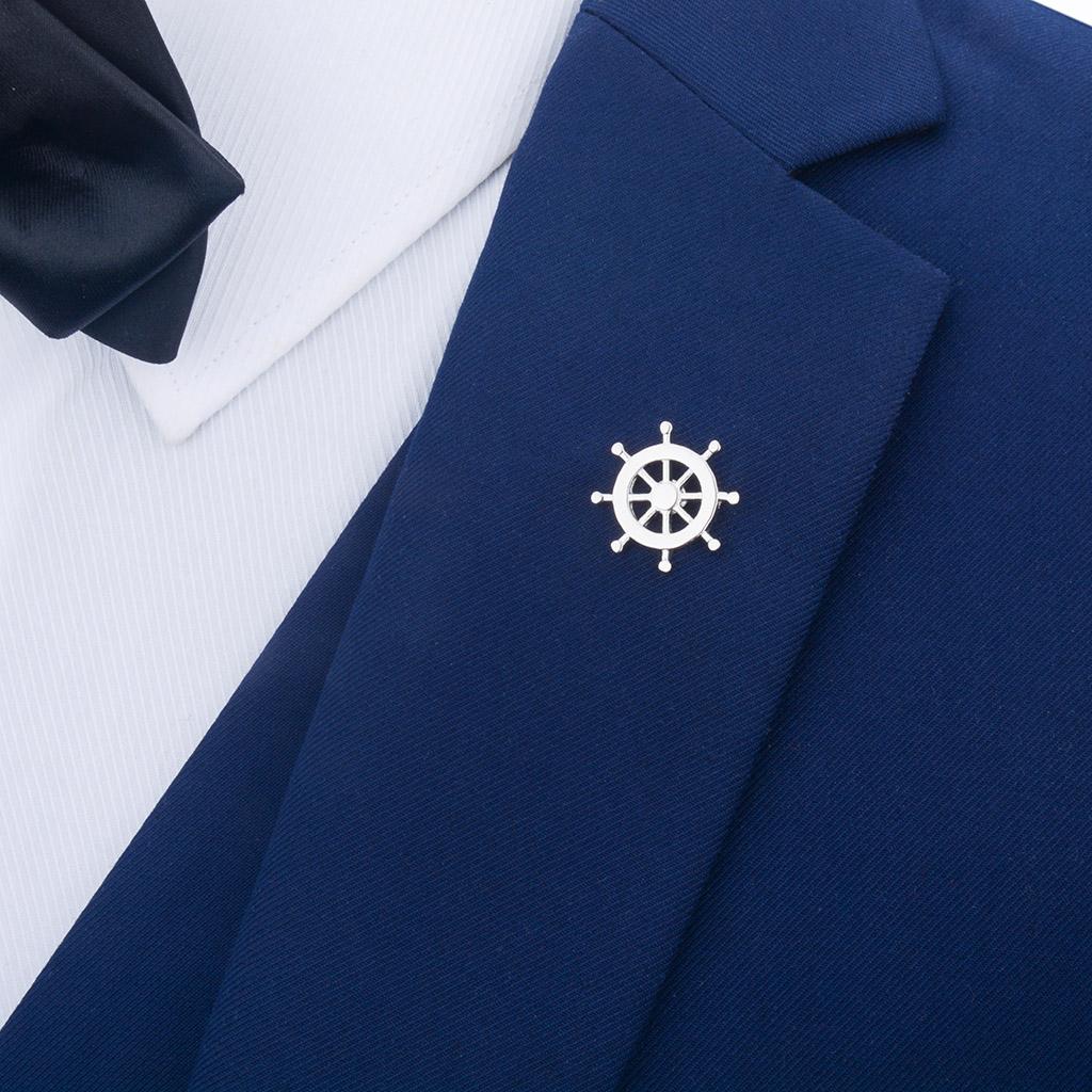 Fashion New Anchor Metal Enamel Brooch Pin Lapel Badge For Wedding Party Mens Elegant Shirt Brooch Jewelry