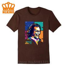 Fanart Joker с современным популярным художественным стилем, уникальный и красочный дизайн, мужские футболки с клоуном, 100% хлопок, с круглым выре...(China)