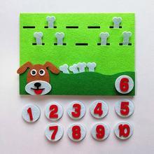 1 قطعة الكرتون الحيوان الرقمية مطابقة أرقام تعليم لعبة الأطفال التعلم المبكر التعليمية غير المنسوجة ورأى المواد DIY بها بنفسك لعبة(China)