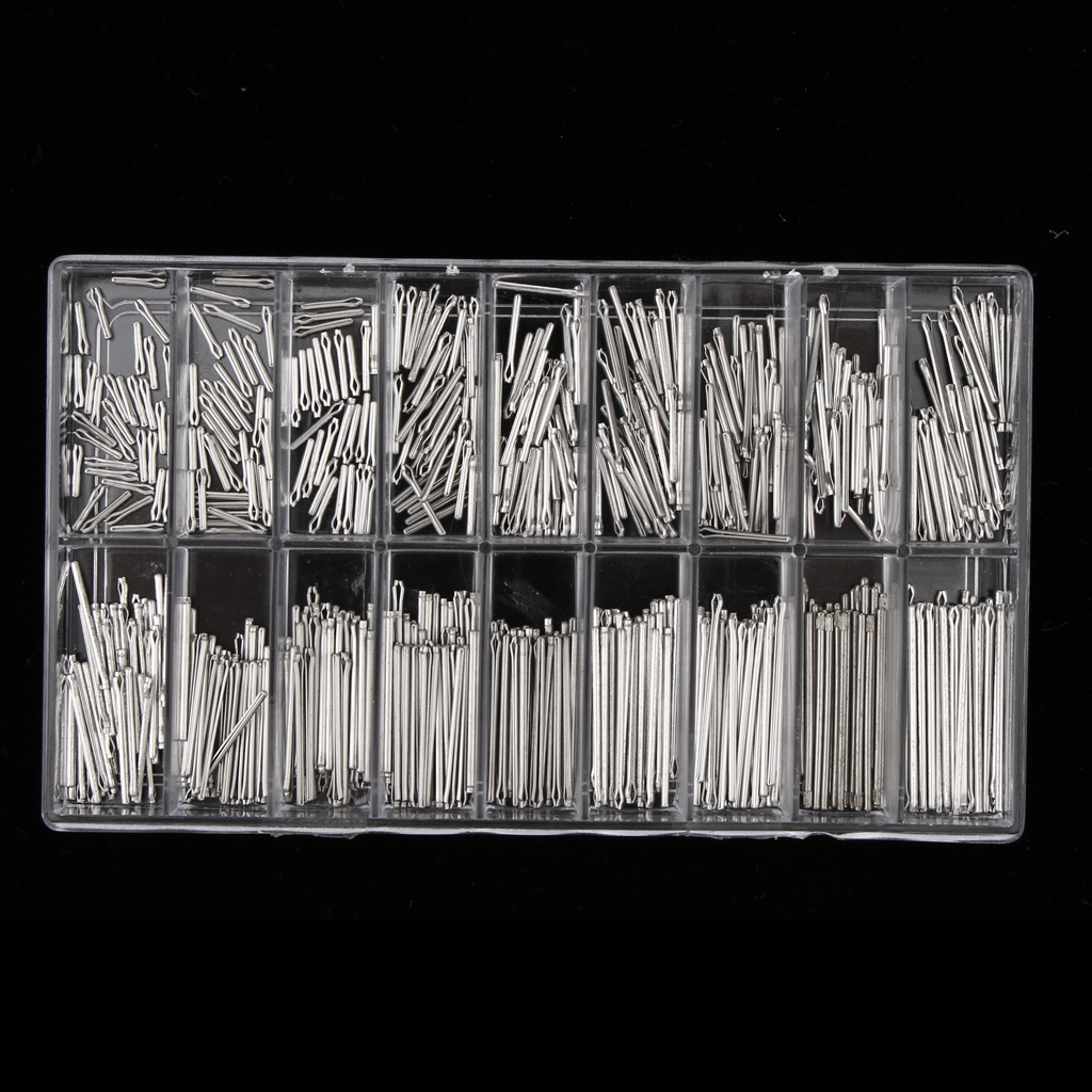 360pcs 6mm-23mm Watch Band Link Cotter Pin Assortment Watch Repair Accessory