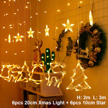 Alce Campana Luce Della Stringa di Natale del LED Arredamento Per La Casa Appeso Ghirlanda di Albero Di Natale Decorazione Ornamento 2019 Navidad Regalo di Natale Nuovo anno(China)